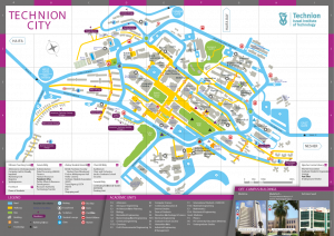 The map of Technion