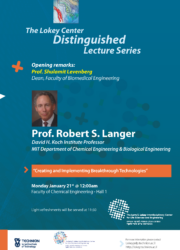 Poster of Prof Langer lecture