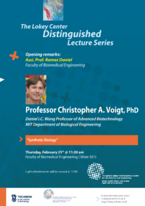 poster of lecture Christopher A. Voight