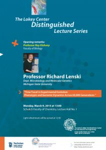 lecture poster of Richard Lenski