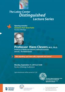 poster of Hans Clevers lecture
